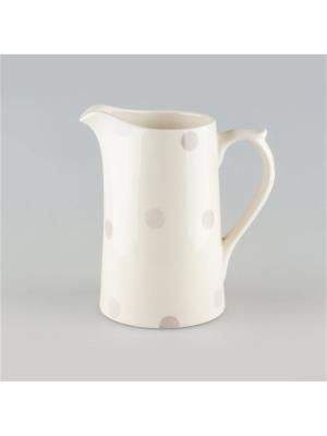 Кувшин 0,58л Модди Quality Ceramic. Цвет: молочный, серый