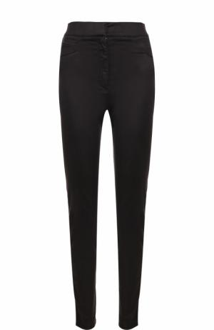 Однотонные джинсы-скинни Balmain. Цвет: черный