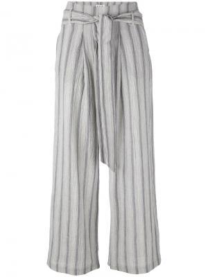 Укороченные брюки в полоску Masscob. Цвет: синий