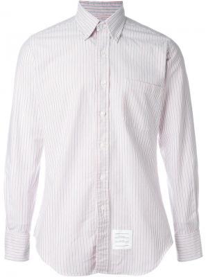 Рубашка в полоску Thom Browne. Цвет: красный