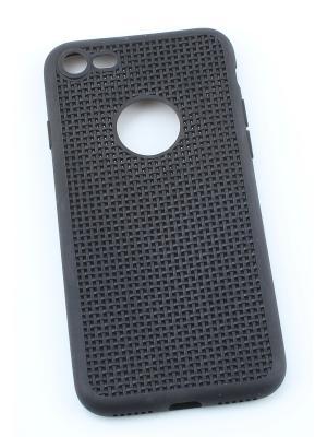Чехол с сеточкой для APPLE iPhone 7, 8 Радужки. Цвет: черный