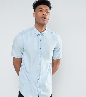 ASOS Джинсовая рубашка классического кроя TALL. Цвет: синий