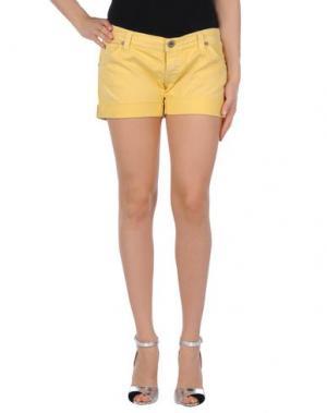 Джинсовые шорты REPLAY. Цвет: желтый