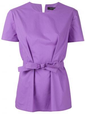 Блузка с поясом Ter Et Bantine. Цвет: розовый и фиолетовый