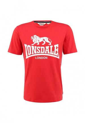 Футболка Lonsdale. Цвет: красный
