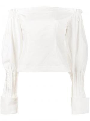 Блузка с открытыми плечами Jacquemus. Цвет: белый