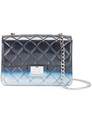 Стеганая сумка на плечо Milano Designinverso. Цвет: чёрный