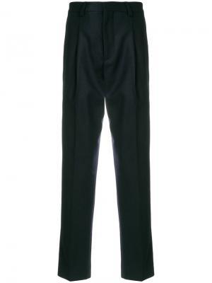 Классические брюки свободного кроя Harmony Paris. Цвет: синий