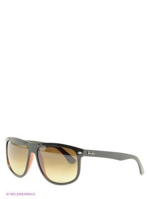 Очки солнцезащитные Ray Ban. Цвет: черный, коричневый