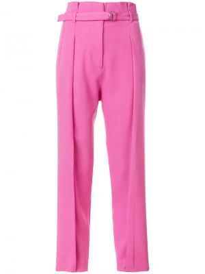 Зауженные брюки с поясом 3.1 Phillip Lim. Цвет: розовый и фиолетовый