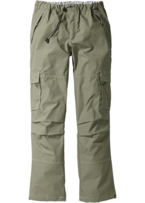 Прямые брюки карго свободного кроя loose fit, cредний рост (N) (оливковый) bonprix. Цвет: оливковый