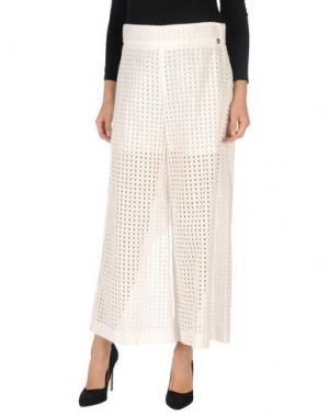 Повседневные брюки ANGELO MARANI. Цвет: белый