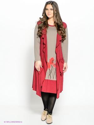 Комплект Amelia Lux. Цвет: серо-коричневый, бордовый