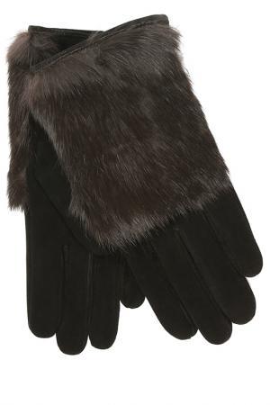 Перчатки Dali Exclusive. Цвет: черный, темно-коричневый