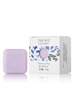 Натуральное мыло с маслом лаванды YUN-NIU. Цвет: фиолетовый