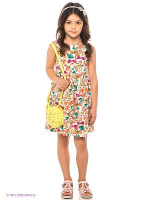 Платье M&DCollection. Цвет: белый, бирюзовый, фуксия, оранжевый