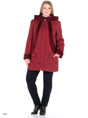 Пальто Socrat. Цвет: темно-бордовый