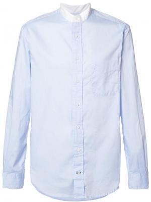 Рубашка с воротником на пуговицах Gitman Vintage. Цвет: синий