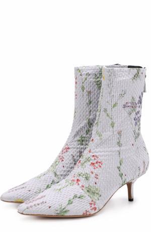 Текстильные ботильоны с принтом на каблуке kitten heel Altuzarra. Цвет: лиловый
