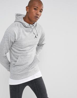 Jordan Худи серого цвета Nike Wings 860200-063. Цвет: серый