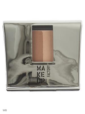 Тени-пудра Make up factory. Цвет: светло-коричневый, коричневый