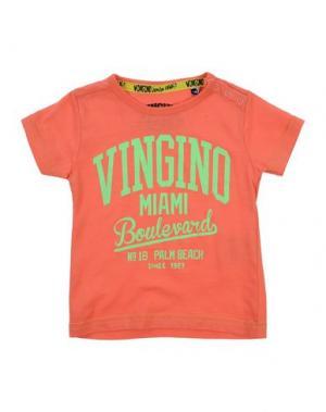 Футболка VINGINO. Цвет: лососево-розовый