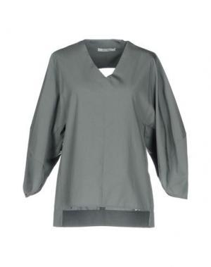 Блузка OBLIQUE CREATIONS. Цвет: серый