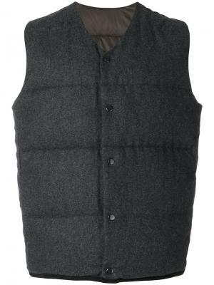 Пуховый жилет Bellerose. Цвет: серый