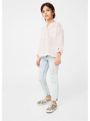Рубашка - ADELA Mango kids. Цвет: бледно-розовый