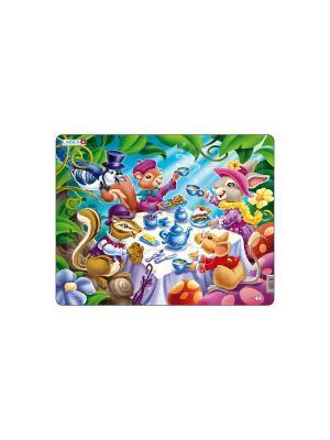 Пазл Чайная вечеринка LARSEN AS. Цвет: белый, голубой, желтый, зеленый, оранжевый, синий