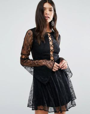 The Jetset Diaries Платье мини Majestic. Цвет: черный