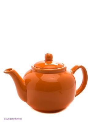 Заварочный чайник, 940 мл LORAINE. Цвет: оранжевый