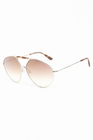 Очки солнцезащитные Valentino. Цвет: золотистый