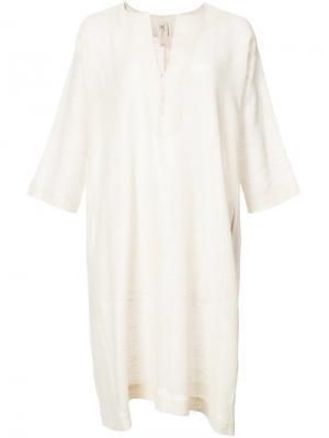 Классическое платье шифт Zero + Maria Cornejo. Цвет: жёлтый и оранжевый