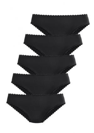 Трусики из микрофазера, 5 штук GO IN. Цвет: 5х белый, 5х набор, 5х черный