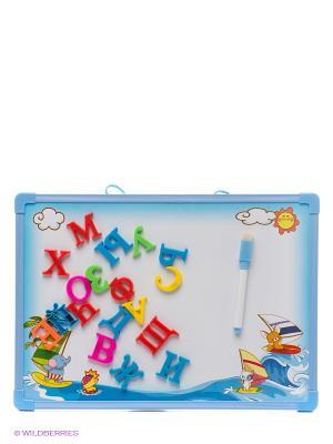 Доска для рисования магнитная Amico. Цвет: голубой, белый, красный, розовый, желтый