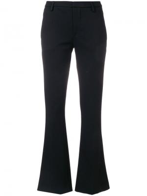 Flared cropped trousers Dondup. Цвет: чёрный