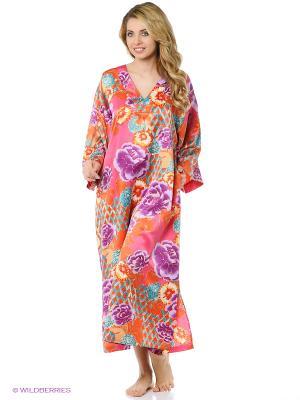 Платье - туника Natori. Цвет: оранжевый, сиреневый