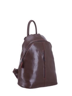 Рюкзак S16655A натуральная кожа Sara. Цвет: темно-бежевый