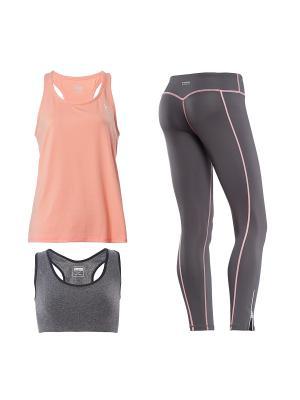 Комплект одежды Freddy. Цвет: серый, оранжевый, розовый