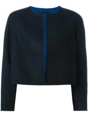 Укороченный пиджак с простроченной отделкой Dvf Diane Von Furstenberg. Цвет: синий