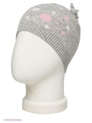 Шапка ELFE. Цвет: серый меланж, бледно-розовый, белый