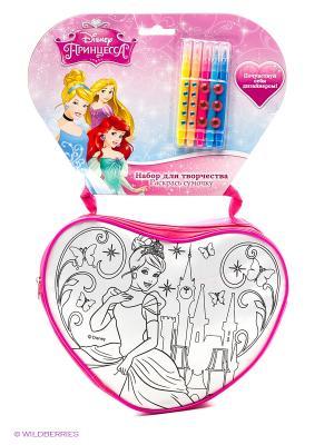 Набор для творчества  Disney принцессы. сумочка росписи на хедере Multiart. Цвет: розовый