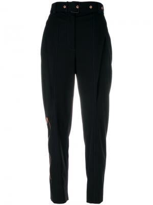 Lightweight Wool Belted Straight Pant Proenza Schouler. Цвет: чёрный