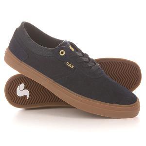 Кеды кроссовки низкие  Merced Navy/Gum Suede DVS. Цвет: синий