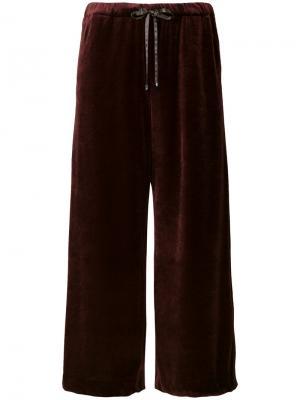 Укороченные брюки на шнурке Astraet. Цвет: красный