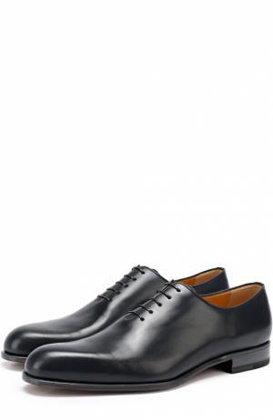 Классические кожаные оксфорды A. Testoni. Цвет: синий