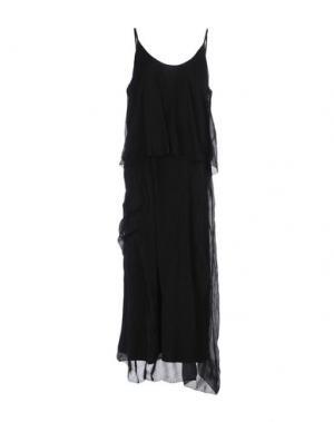 Длинное платье LA FEE MARABOUTEE. Цвет: черный