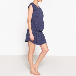 Сорочка ночная для периода беременности La Redoute Collections. Цвет: темно-синий