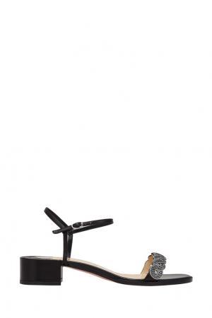 Кожаные сандалии Drekoronda 25 Christian Louboutin. Цвет: черный